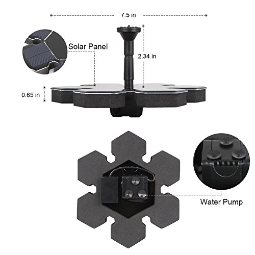 InnoGear-Solar-Powered-Fountain-Pond-Pump-Bird-Bath-Fountains-Outdoor-Watering-Submersible-Water-Floating-Pump-Kit-with-Different-Spray-Heads-for-Fish-Tank-Aquarium-Pond-Pool-Garden-Decoration