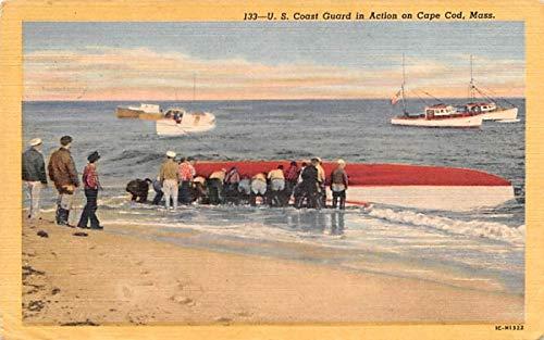 U.S. Coast Guard in Action Chatham, Massachusetts Postcard