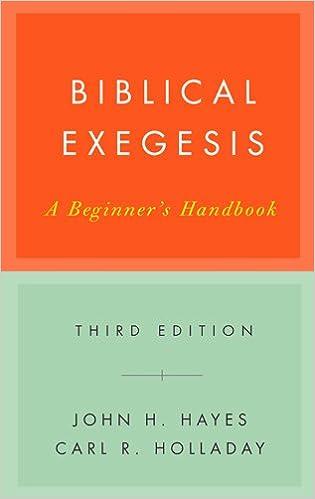Biblical Exegesis, 3rd ed
