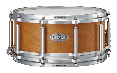 Pearl FTMMH1465 14 x 6.5 Inches Free Floater Snare Drum - Maple, Mahogany