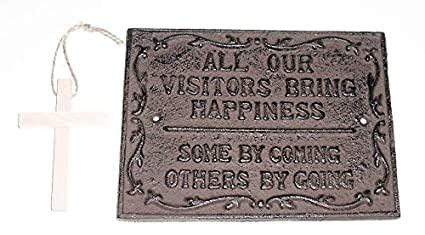"9caf4fa6c8a9 ""ABC Products"" - Heavy Cast Iron - Visitors Plaque - ""All"