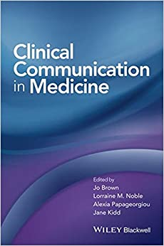 Book Clinical Communication in Medicine