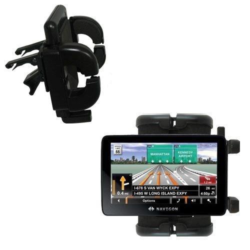 Gomadic Air Vent Clip Based Cradle Holder Car/Auto Mount Suitable for The Navigon 7200T (Navigon Gps Mount)