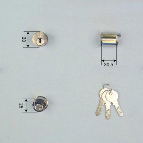 Ohshima(オーシマ) 東洋シャッター Nikaba製 高性能シリンダー錠 カンザシ型用 キー3本付属 鍵 交換 取替え Nikabaディンプルキー仕様 OHS /OSK /Oshima B01I2GR2WM