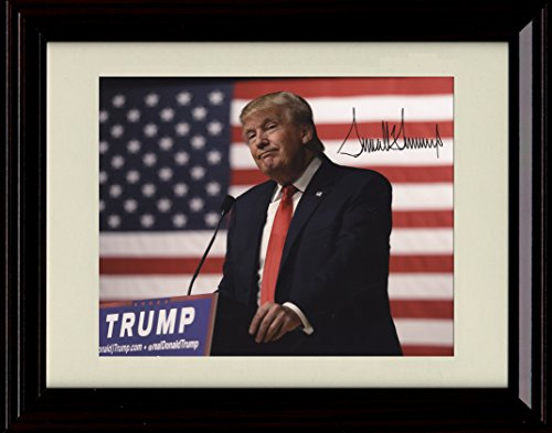 Framed Donald Trump Autograph Replica Print