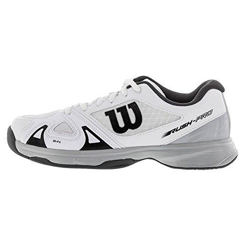 Type Tout 2 JR Wilson Tissu Chaussures 5 bleu de Synthétique pour noir Terrain aux de Joueurs Tout Rush Tennis de blanc Enfant Niveau Convient Pro 4U4qTw78