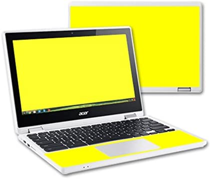 MightySkins Skin Compatible with Acer Chromebook R11 Screen case wrap Cover Sticker Skins Solid Yellow