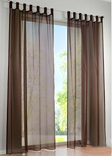 LivebyCare 1pcs Candy Color Sheer Window Curtain Panel Tap Top Voil Window Treatment Drapery Drape Room Divider Partition Curtains Decorative for Meeting Room Club Bar