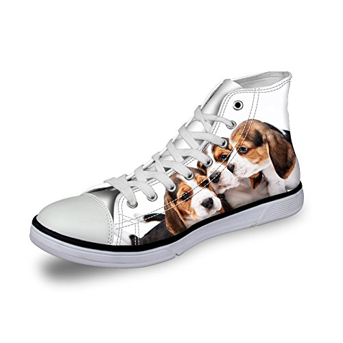 Nopersonality , Chaussures De Ville À Lacets Femme Pet Dog Pattern6