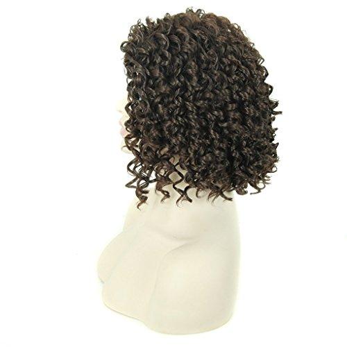 """Quibine 14"""" Femmes Perruques Synthetiques Courts Boucles Afro-americains Perruques de Cheveux Faux"""