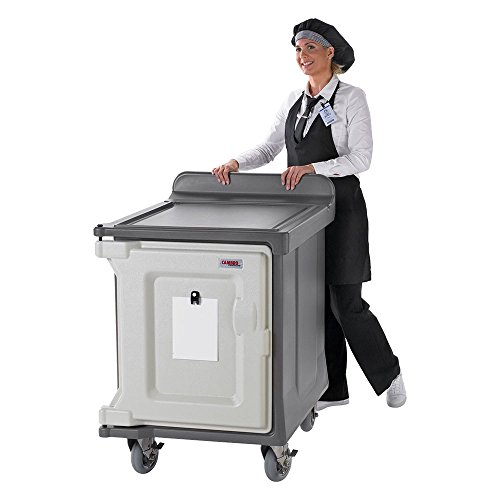 Cart Delivery Meal (Cambro MDC1520S10HD191 Granite Gray Low Profile 10-Tray Meal Delivery Cart with Heavy Duty Casters)
