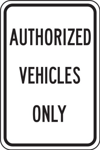 Parking Only Sign Aluminum Top - 6