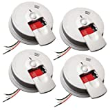 Kidde 21007588 Hardwired Interconnectable 120-Volt Smoke Alarm with Battery Backup, 4-Pack Review