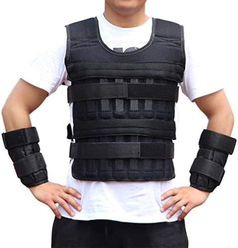 IMIKEYA Weighted Vest Weight Vest for Workout Strength Cross fit Training Running Jogging Weightlifting Load 15kg