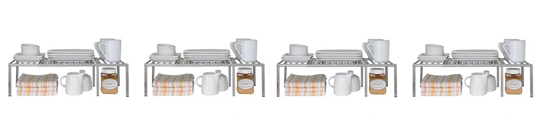 Seville Classics Expandable Kitchen Counter and Cabinet Shelf (4-(Pack))