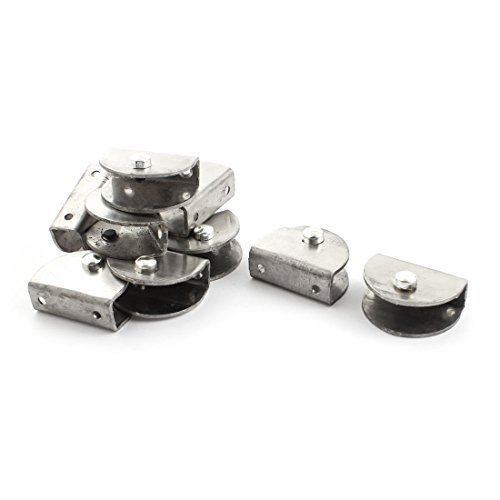 DealMux 10 Pcs Silver Tone Stainless Steel 13mm Thickness Glass Clip Clamp by DealMux (Image #3)