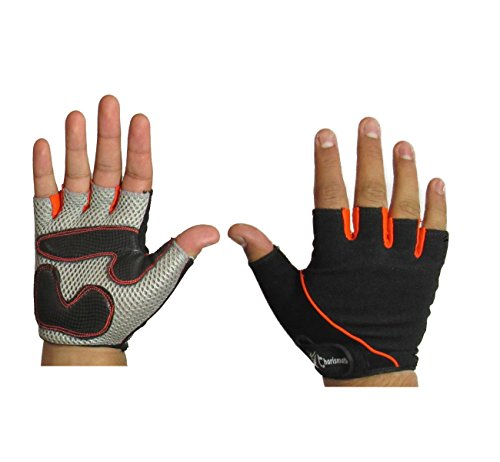 Mesh Weight Lifting Gloves: Charismatic Air Mesh Padded Palm Half Finger Weight
