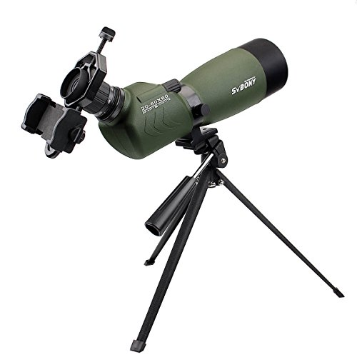 41rrY40X ML - SVBONY 20-60x60/25-75x70mm Shooting Spotting Scope Bak4 Prism Spotting Scope Telescope IP65 Waterproof FMC Optical Lens with Tripod and Phone Adapter