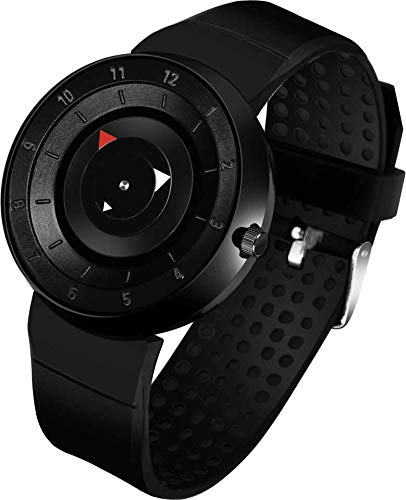 GREAT WORK Analogue Men's Watch (Black Dial Black Colored Strap)