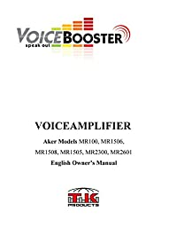 VoiceBooster Voice Amplifier 12watts Black MR1505 (Aker) by TK Products, Portable, for Teachers, Coaches, Tour Guides, Presentations, Costumes, Etc.