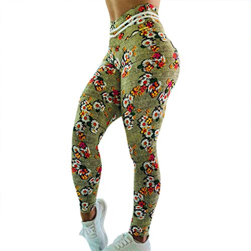 - Pongfunsy Women's Leggings Ladies Ruched Butt Lifting Leggings High Waisted Workout Sport Tummy Control Gym Yoga Pants (M, Pink)
