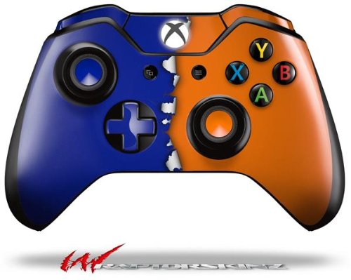 Ripped Colors Blue Orange - Decal Style Skin fits Microsoft