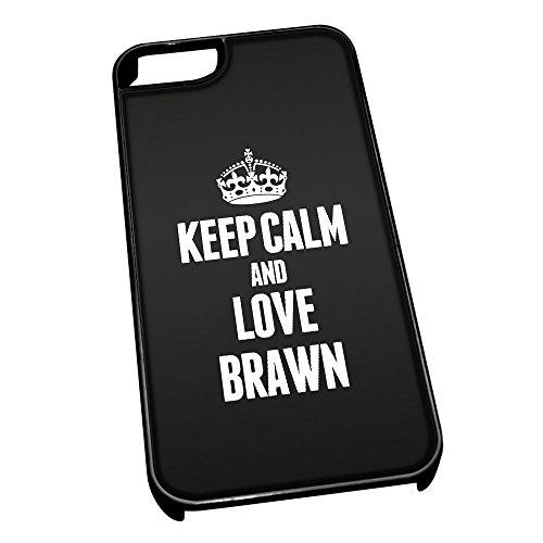 Nero cover per iPhone 5/5S 0858nero Keep Calm and Love Brawn