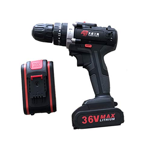 Riverlily 36V Electric Impact Cordless Drill Lithium Battery Wireless Rechargeable Hand Drill Home DIY Electric Power Tools