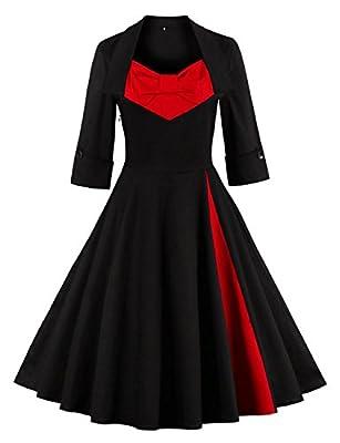 Vintage loves retro Cocktail Dresses for Women Polka Dot Retro Party Dress