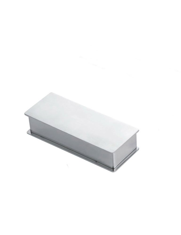 iecool Household Square Stainless Steel Metal Toothpick Holder Jewelry Box Silver1