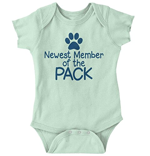 New Member Pack Funny Ironic Pets Cute Newborn Baby Onesie Bodysuit (Funny Sayings Onesies)