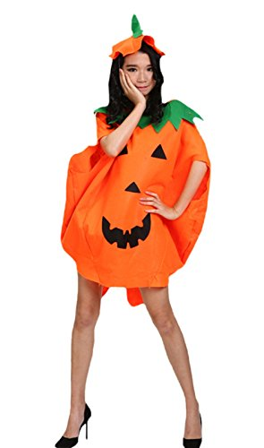 [Halloween Pumpkin Costume Set Party Wear Unisex Adult Clothing (One size)] (Adult Pumpkin Halloween Costumes)