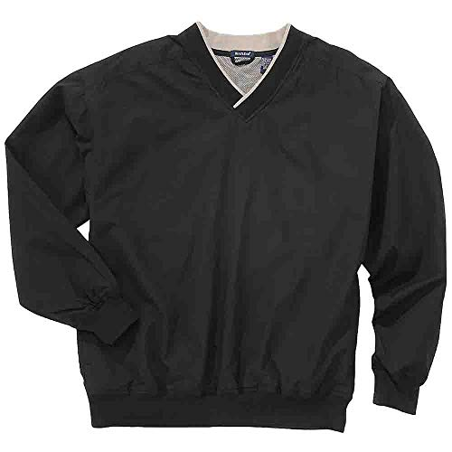 Rivers' End Mens Lined Microfiber Windshirt Athletic Jacket Black - Windshirt Microfiber