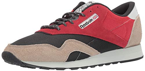 - Reebok Men's Classic Nylon Sneaker, Primal red/True Grey/Sand Beige/Blue, 13 M US
