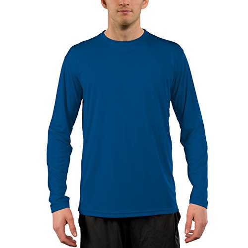 Vapor Apparel Men's UPF 50+ UV Sun Protection Performance Long Sleeve T-Shirt Large Royal -