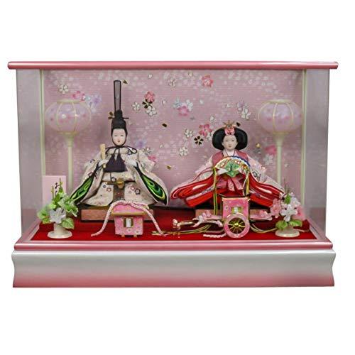 雛人形 親王飾り ケース入り 幅52cm [fz-203] ひな人形   B07K81Q2YZ