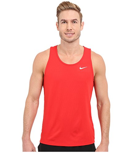 Nike Men's Dri-Fit? Contour Running Singlet University Red/Reflective Silver XL