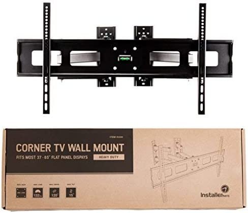 Heavy Duty LCD LED TV Monitor Flat Panel Screen HDMI Cable Swivel//Tilt 20 Dual Extension Arm InstallerParts 37-65 TV Corner Mount
