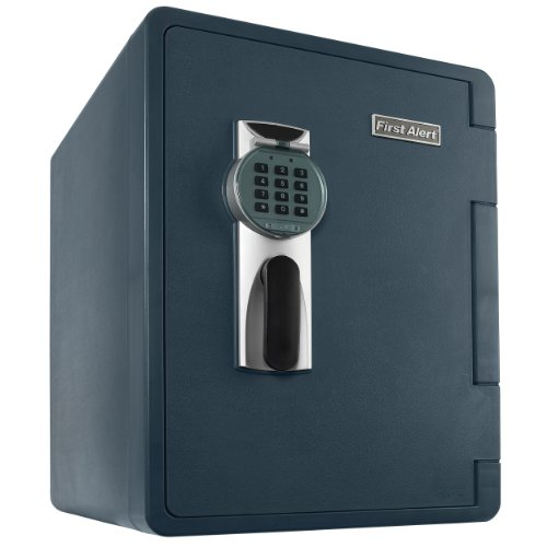 First Alert 2096DF Waterproof Fire Safe with Digital Lock, 2.14 Cubic Foot, Gray by First Alert
