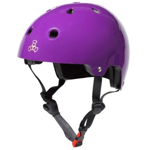 Triple Eight 3006 Dual Certified Helmet, X-Small/Small, Purple Glossy (Extra Small Helmet)