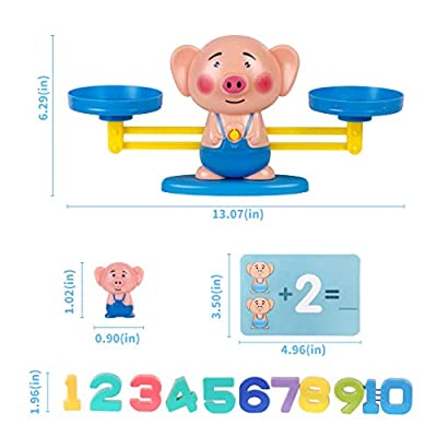 Refasy Counting Toy for 2-4 Year Olds Toddlers, Children Math Toys for Kindergarten Balance Measuring Fun Gift for Girls Boys Kids Age 3-5-6 STEM Learning Numbers for Educational Toy Gift 1 Year: Clothing