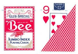 Bee Jumbo Index Playing Cards: Bee Poker Playing Cards with Large Numbers, One Dozen ()