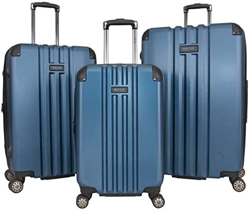 """Kenneth Cole Reaction Reverb Hardside 8-Wheel 3-Piece Spinner Luggage Set: 20"""" Carry-on, 25"""", 29"""", Ice Blue"""