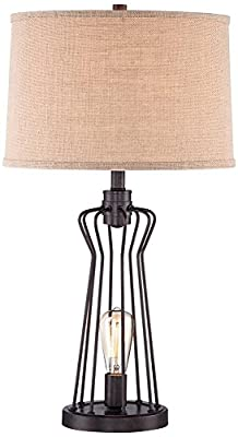 Franklin Iron Works Metal Rod Cage Table Lamp