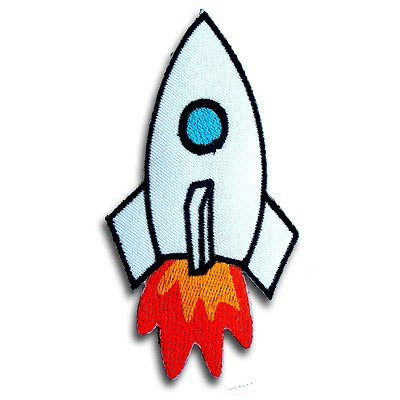 Cute Rocket Space DIY Embroidered Sew Iron on Patch (Drop Ship Program)