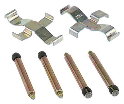 Brake Pad Pin Clip - ACDelco 18K471X Professional Rear Disc Brake Caliper Hardware Kit with Clips and Pins