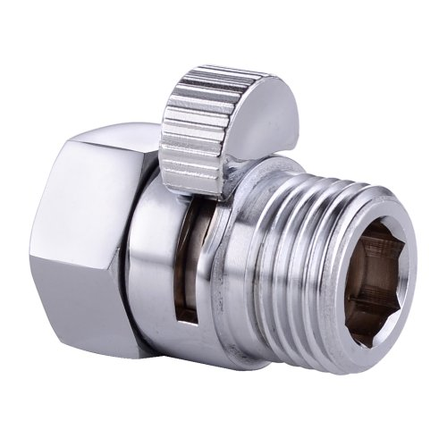 KES K1140B BRASS Shower Head Shut-Off Valve G 1/2, Polished (Polished Copper Straight Stop)