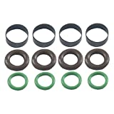 1000cc fuel injector - Precision Turbo PFU Parts Kit for Sport Compact Fuel Injectors - 580cc - 1000cc (4 Green O-Rings, 4 Brown O-Rings, 4 Black O-Rings)