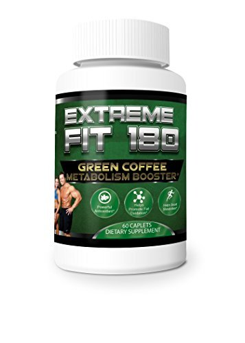 Extreme Fit 180- Green Coffee Metabolism Booster- Ultra Premium Weight Management Formula-Natural And Potent Weight Loss Pills For Men And Women – Burn Belly Fat – Powerful Antioxidant from Extreme Fit 180