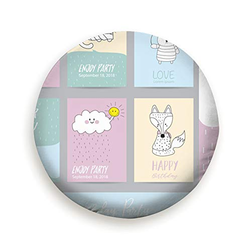 Tire Cover Pink Blue Pastel Greeting Card Balloon Animals Wildlife Cute Polyester Universal Spare Wheel Tire Cover Wheel Covers Jeep Trailer Rv SUV Truck Camper Travel Trailer Accessories